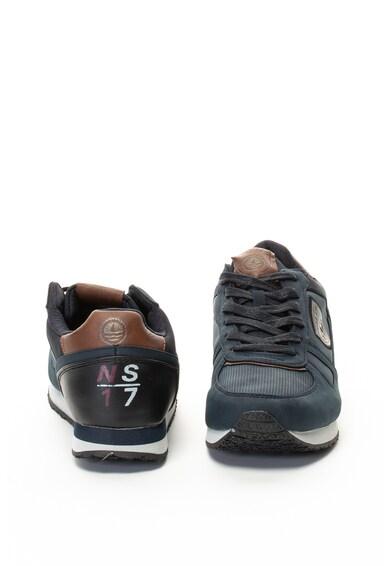 Navy Sail Pantofi sport de piele ecologica si material textil Hercules Barbati