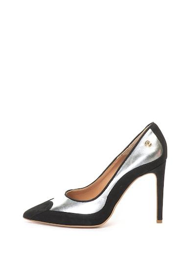Love Moschino Обувки с висок ток и набук Жени