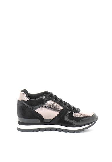 Gioseppo Pantofi sport de piele ecologica si catifea Femei
