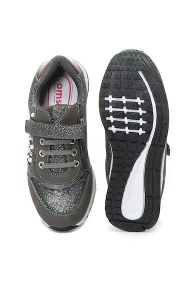 OMS by Original Marines Pantofi sport cu velcro si particule stralucitoare Baieti