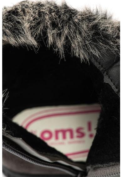 OMS by Original Marines Ghete de piele ecologica cu insertii de blana sintetica Baieti