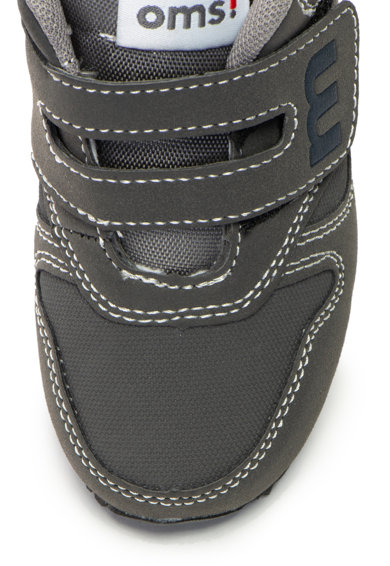 OMS by Original Marines Pantofi sport de piele ecologica cu velcro Baieti