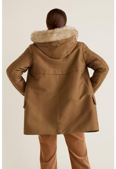 Heavy téli parka kabát kapucnival - Mango (43090620-09) 05c3fb31db