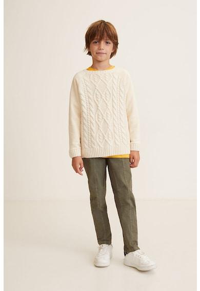 Mango Пуловер Combi с плетка осморка Момчета