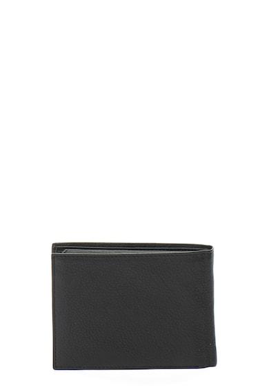 Laura Biagiotti John félbehajtható bőr pénztárca nyomott logóval férfi