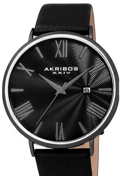 AKRIBOS XXIV Bőrszíjas karóra 20 férfi