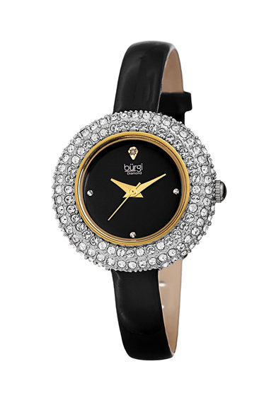 BURGI Gyémántos&Swarovski kristályos karóra női