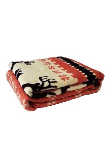 Kotonia Home Patura cu 2 fete  85% acryl, 15% polycotton, 200x240 cm, multicolor, decor reni winter Craciun Femei
