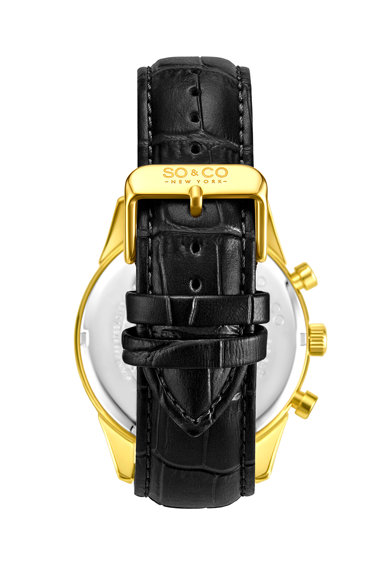 SO&CO New York Часовник с хронограф и кожена каишка Мъже