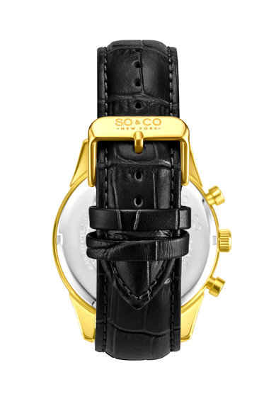 SO&CO New York Часовник с кожена каишка Мъже