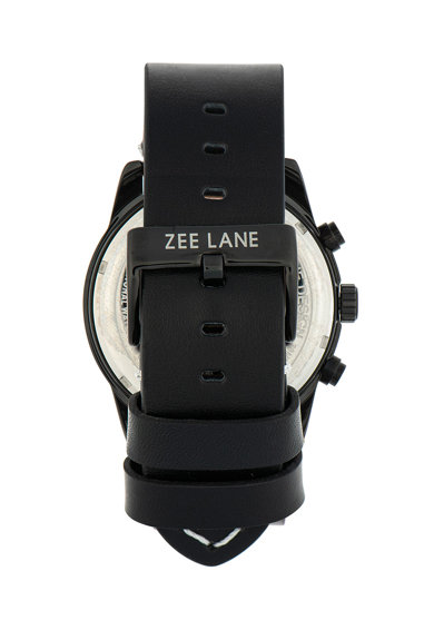 Zee Lane Ceas cu functii multiple si curea de piele Barbati