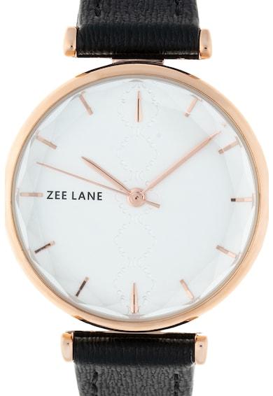 Zee Lane Ceas rotund cu o curea de piele Femei