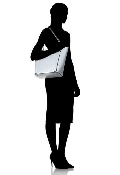 Zee Lane Geanta shopper de piele cu buzunar exterior Femei
