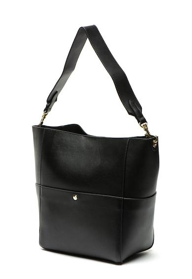 Zee Lane eanta de piele cu bareta pentru umar Leather Shoulder Bag Femei