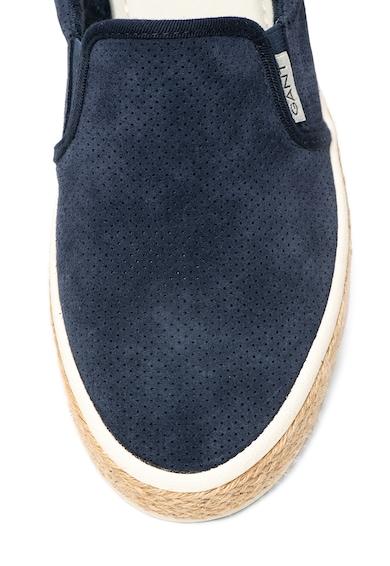 Gant Pantofi slip-on de piele intoarsa, cu perforatii decorative Fresno Barbati