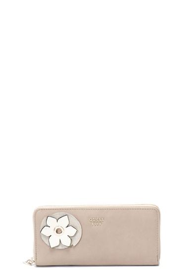 Guess Portofel de piele ecologica cu aplicatie florala Hadley Femei