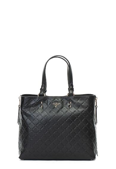 Guess Кожена чанта с релефно лого Жени