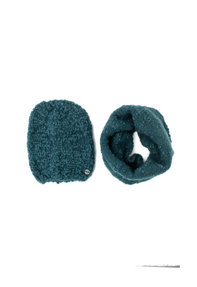 Lancetti Set de fular circular si caciula din amestec de lana Femei
