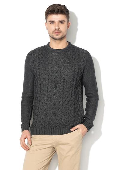 EDC by Esprit Csavart kötésmintájú pulóver férfi