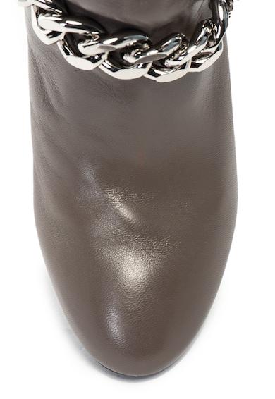 Guess Botine de piele, cu lant decorativ Femei