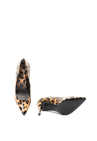 Guess Pantofi cu varf ascutit si animal print Femei