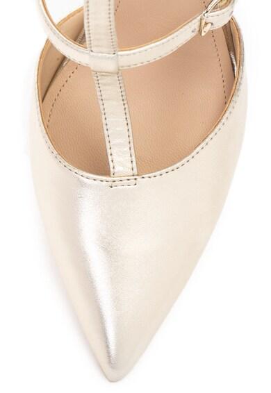Guess Кожени обувки с Т-образна каишка Жени