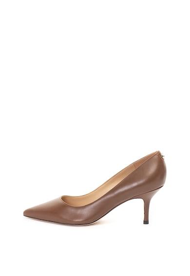 Guess Pantofi de piele, cu varf ascutit si toc stiletto Femei