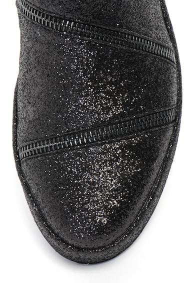 Guess Csillámos chelsea csizma dekoratív cipzárral női