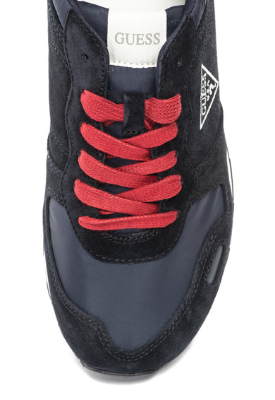 Guess Pantofi sport de piele intoarsa cu detaliu logo brodat Barbati