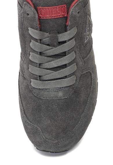 Guess Pantofi sport de piele intoarsa cu aplicatie logo Barbati
