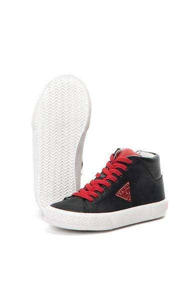 Guess Pantofi sport mid-high de piele ecologica Baieti