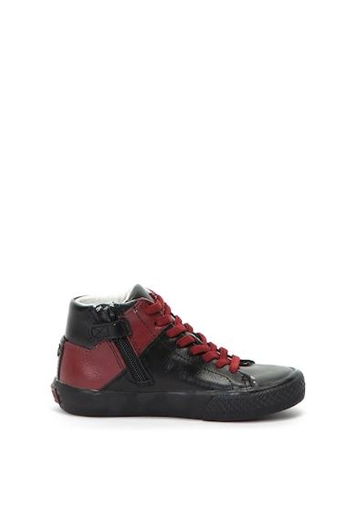 Guess Középmagas szárú bőrcipő colorblock dizájnnal Lány