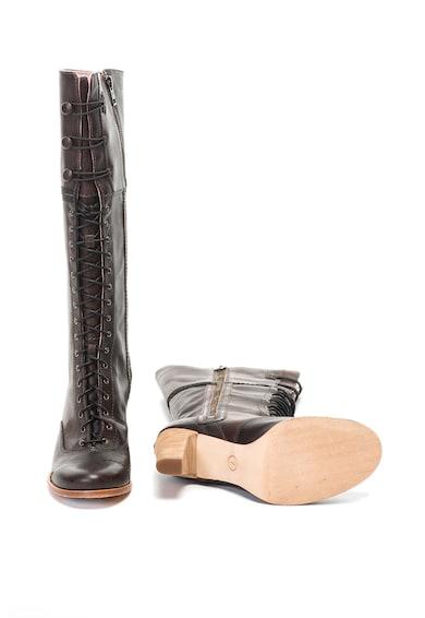 Timberland Cizme de piele lungi pana la genunchi cu toc masiv Marge Femei