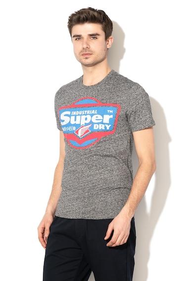 SUPERDRY Tricou cu imprimeu cauciucat Heritage Barbati