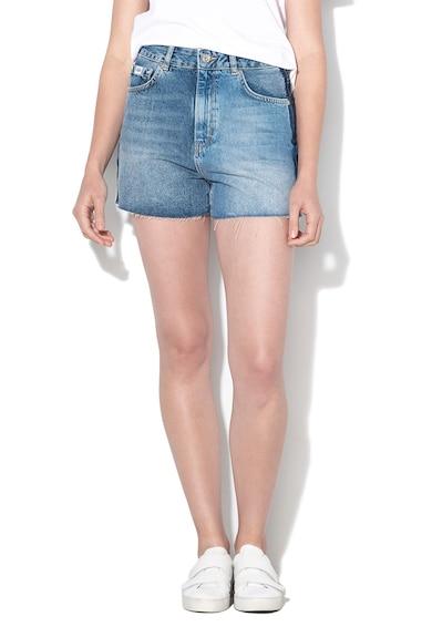 SUPERDRY Pantaloni din denim, cu imprimeu logo Femei