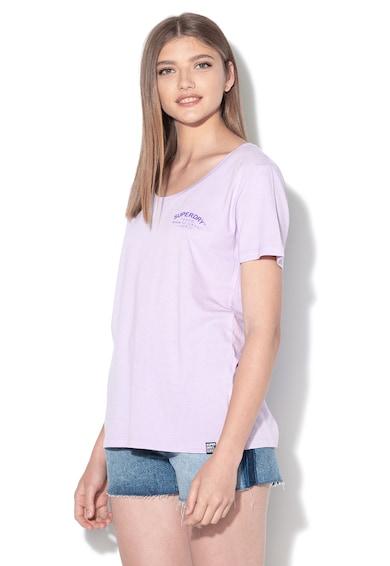 SUPERDRY Tricou din amestec de modal, cu imprimeu logo cauciucat Katie Femei