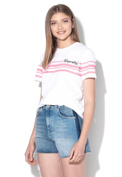 SUPERDRY Tricou cu model cu dungi Leona Femei