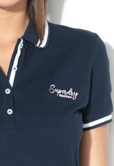 SUPERDRY Rochie polo straight fit, cu logo brodat Femei