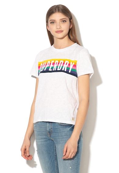 SUPERDRY Tricou cu logo si detaliu din tricot Femei