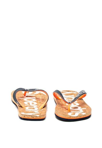 SUPERDRY Papuci flip-flop de pluta cu insertii stralucitoare Femei