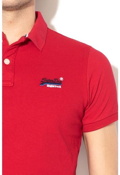 SUPERDRY Tricou polo de pique, cu broderie logo 1 Barbati