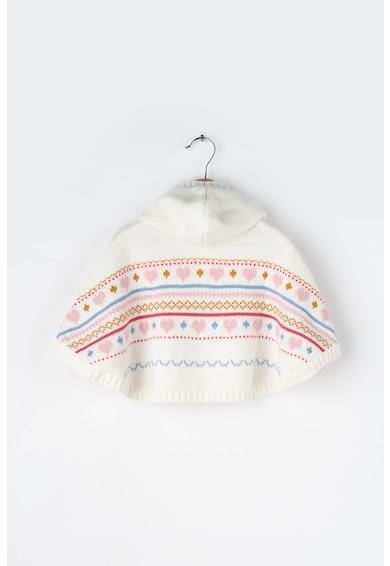Z Kids Poncho tricotat, cu gluga si detalii cu canafi Lima Fete