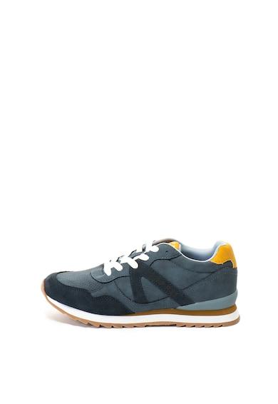 Esprit Pantofi sport de piele ecologica, cu garnituri de piele intoarsa ecologica Femei