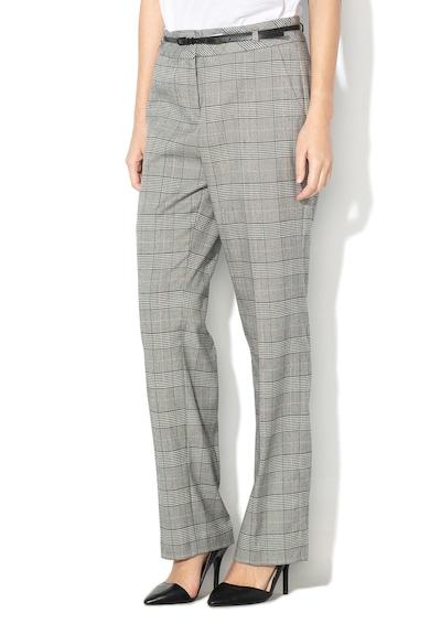Esprit Pantaloni cu model in carouri si curea Femei