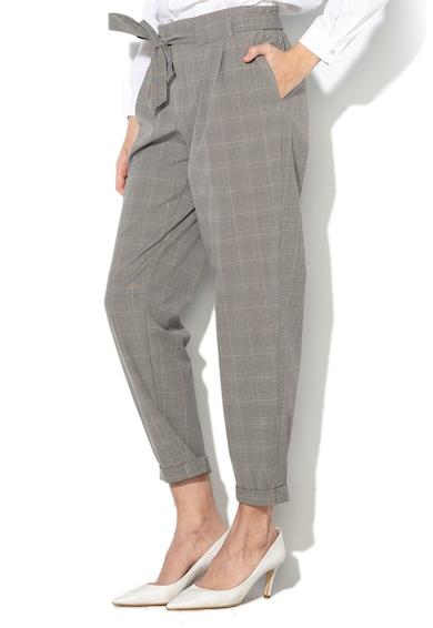 Esprit Pantaloni conici, cu carouri si cordon in talie Femei