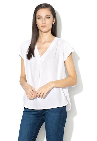 Esprit V-nyakú felső texturált hatással női