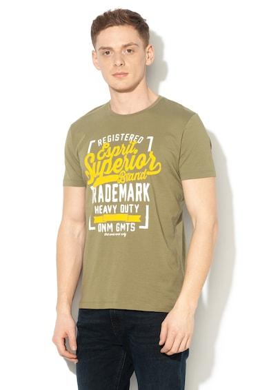 Esprit Regular fit szövegmintás póló férfi