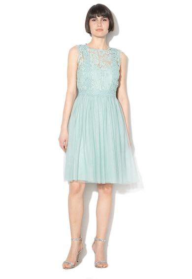 Esprit Horgolt csipkés és hálós anyagú, bővülő fazonú ruha női