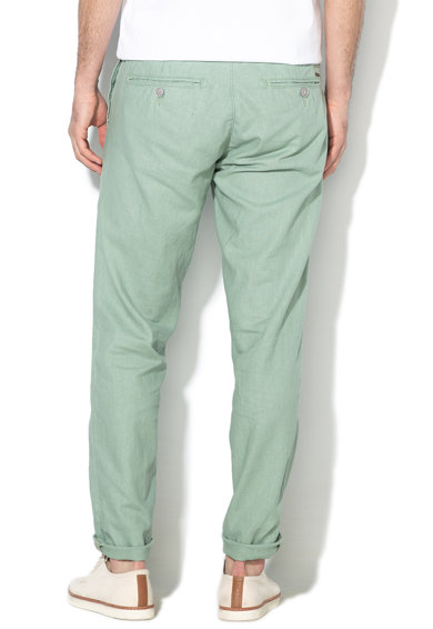 Esprit Pantaloni chino din amestec de in, cu croiala dreapta Barbati