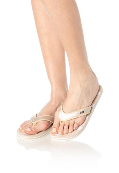 Esprit Flip-flop papucs fémes hatású pánttal női